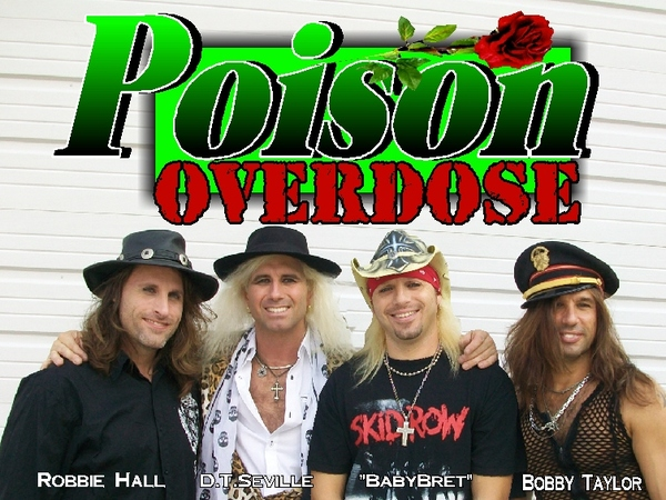 Poison Overdose Poison tribute band booking 816-734-4558